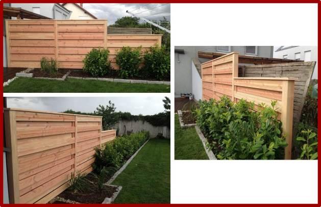 Matthias Halde - Holzwand für Gartenabgrenzung