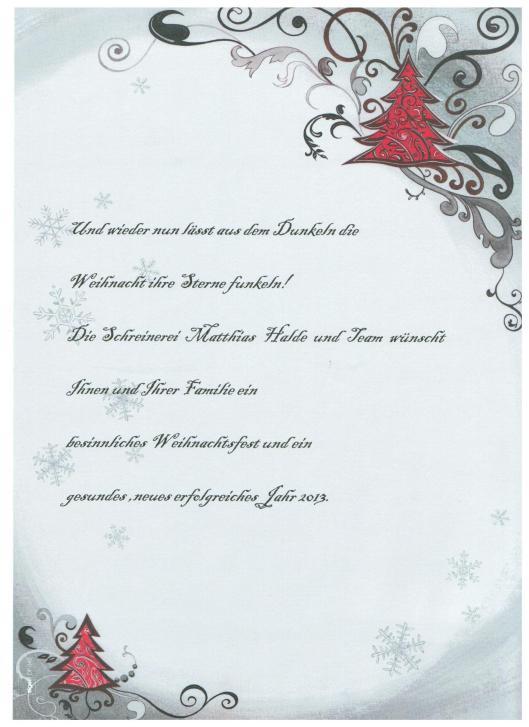 Weihnachten 2012 Grukarte